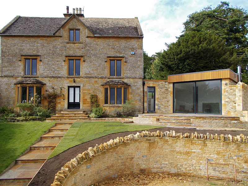 Extension and landscaping, Bourton-on-the-Hill