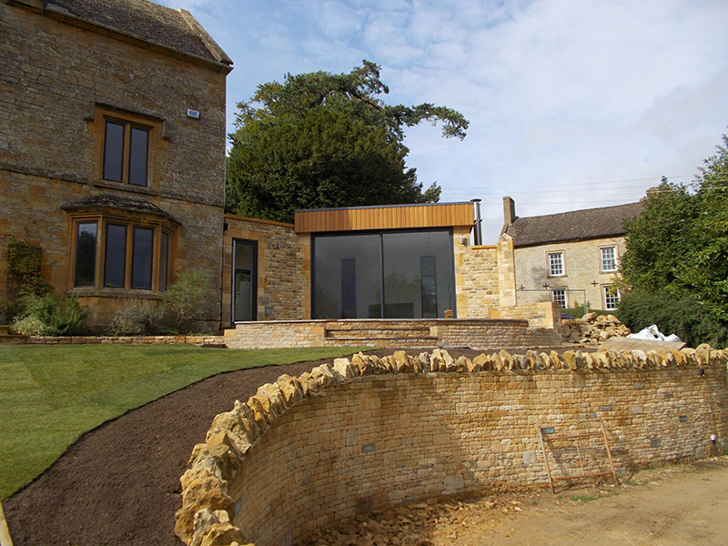 Landscaping and extension project at Bourton-on-the-Hill