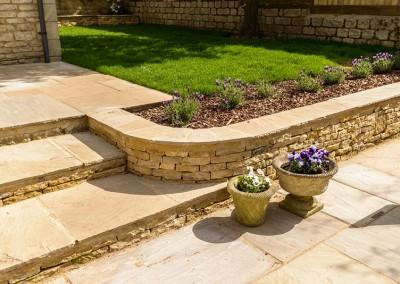 Landscaped garden and patio, Churchill, Oxfordshire