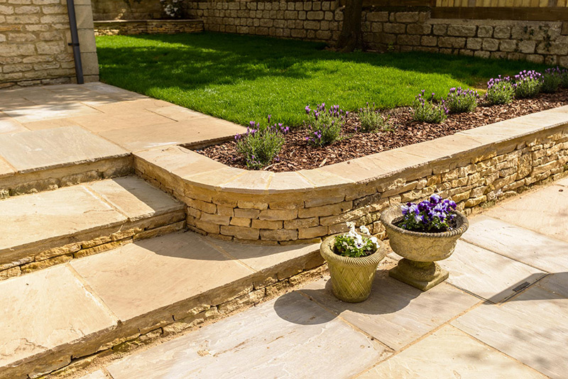 Landscaped garden and patio, Churchill, Oxfordshire