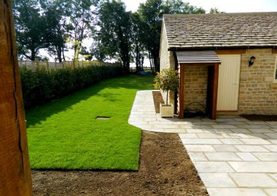 Landscaped garden and patio, Southrop