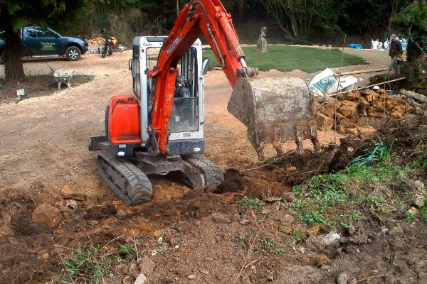 Groundworks excavation by Dan Dan Groves Contracting