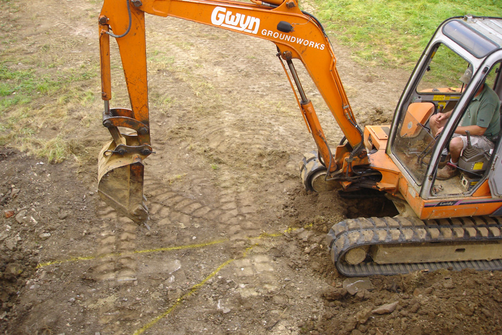 Digger on-site