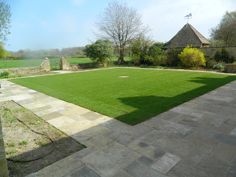 Newly turfed lawn Moreton-in-Marsh by Dan Groves Contracting