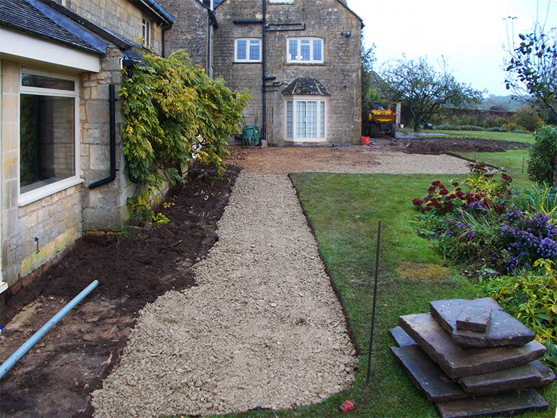 Gravel pathway by Dan Groves Contracting near Moreton in Marsh