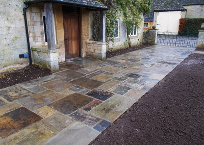 Reclaimed York paving near Moreton-in-Marsh