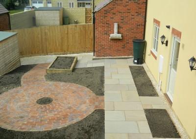 New build patio garden, Moreton-in-Marsh