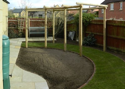 Landscaped garden with pergola – Moreton-in-Marsh